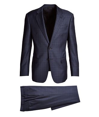 Giorgio Armani Soft Construction Windowpane Wool Suit