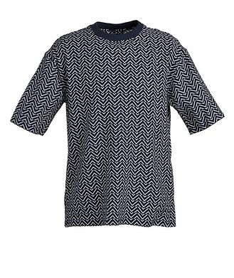 Giorgio Armani Geometric Cotton-Blend T-Shirt