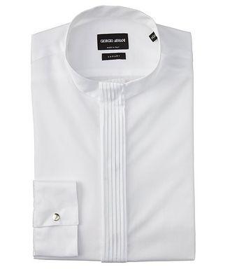 Giorgio Armani Chemise en twill de coton à plis