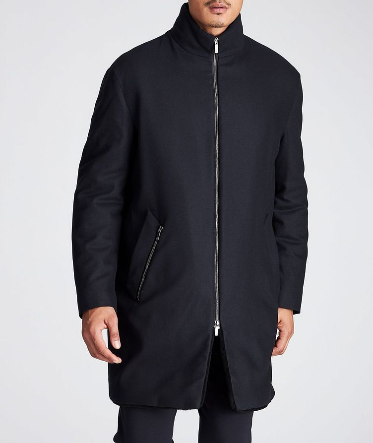 Wool-Cashmere Shearling-Lined Coat image 1
