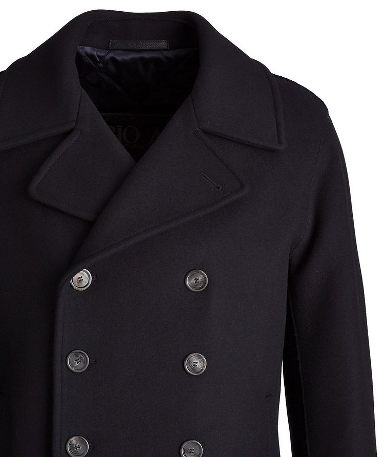 Caban Double-Breasted Wool-Cashmere Peacoat  image 2