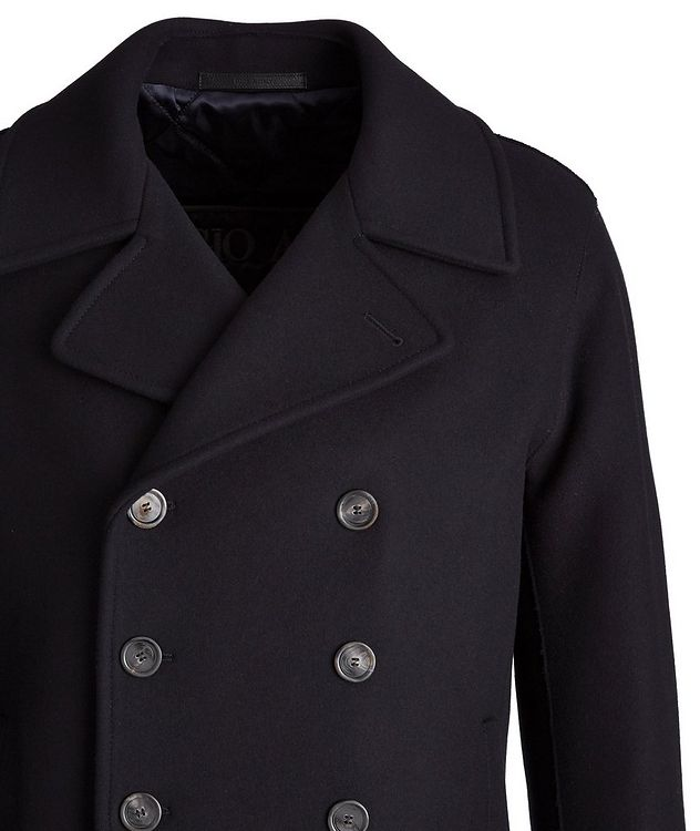 Caban Double-Breasted Wool-Cashmere Peacoat  picture 3