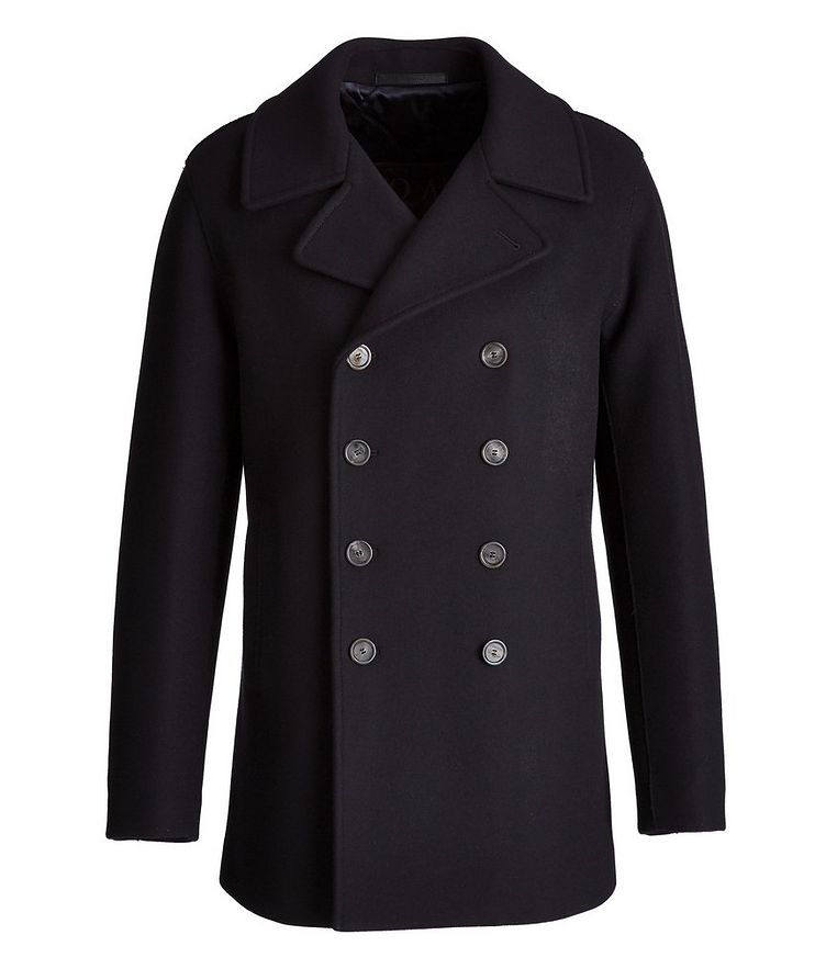 Caban Double-Breasted Wool-Cashmere Peacoat  image 0