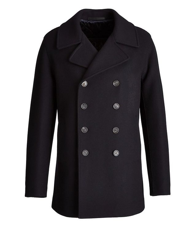 Caban Double-Breasted Wool-Cashmere Peacoat  picture 1