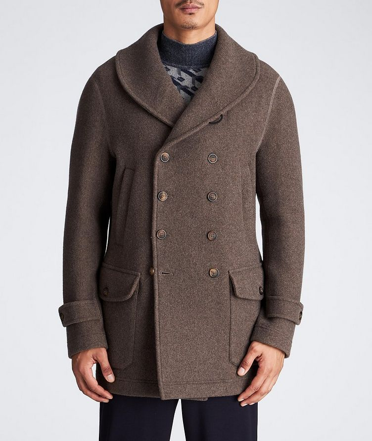 Unstructured Double-Breasted Cashmere Coat image 1