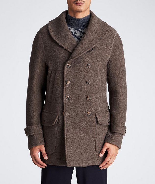 Unstructured Double-Breasted Cashmere Coat picture 2