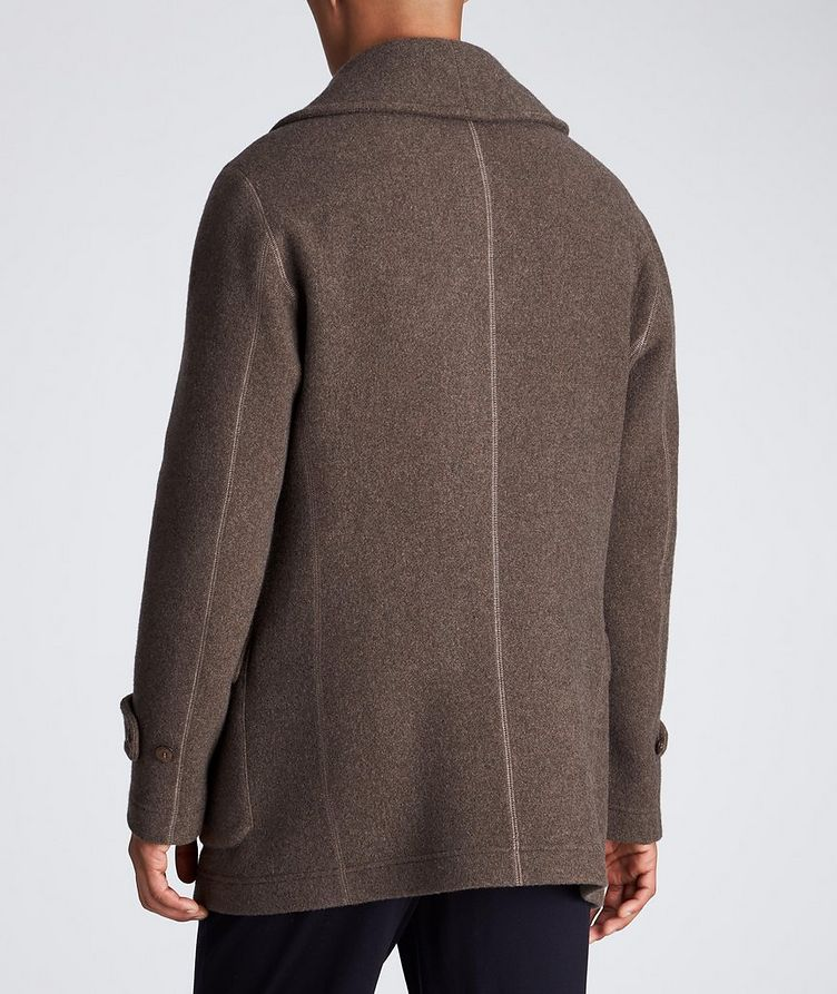 Unstructured Double-Breasted Cashmere Coat image 2