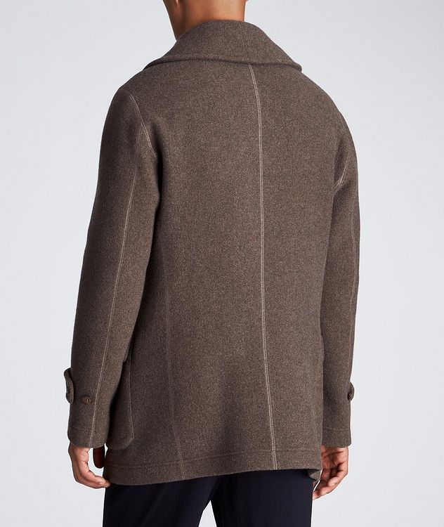 Unstructured Double-Breasted Cashmere Coat picture 3