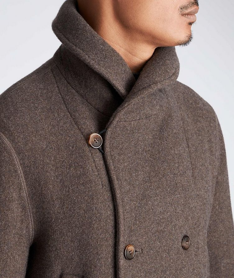 Unstructured Double-Breasted Cashmere Coat image 3