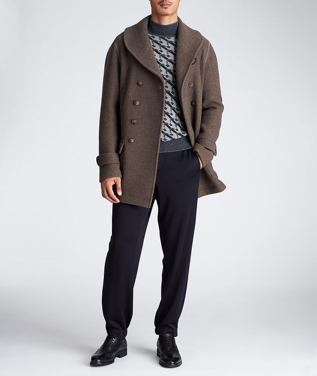 Unstructured Double-Breasted Cashmere Coat picture 6
