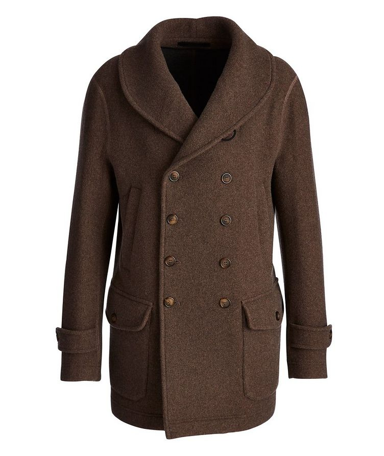 Unstructured Double-Breasted Cashmere Coat image 0