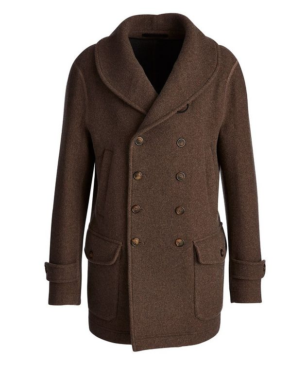 Unstructured Double-Breasted Cashmere Coat picture 1