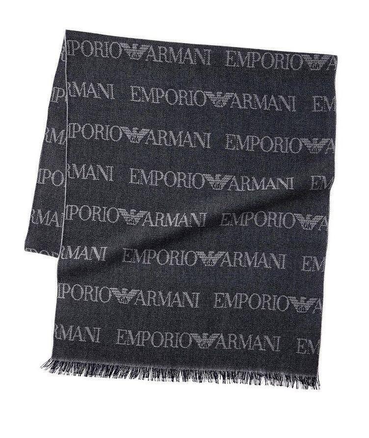 Écharpe en lainage avec logos image 0