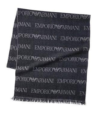 Emporio Armani Écharpe en lainage avec logos