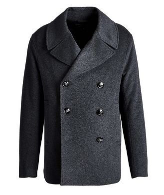 Emporio Armani Double-Breasted Wool-Cashmere OverCoat