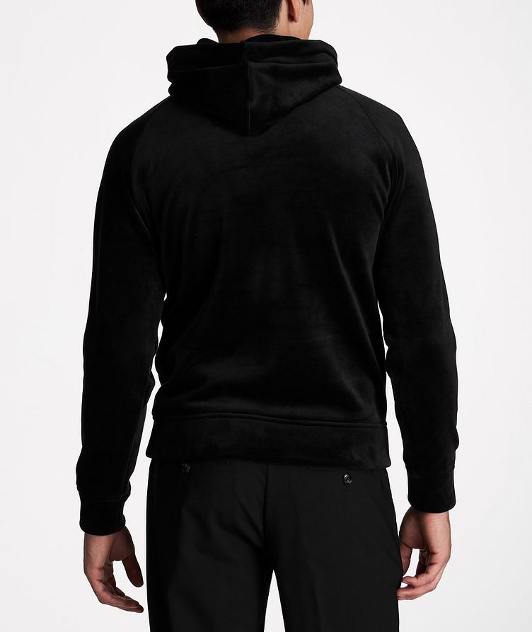 Embroidered Velour Hoodie image 2