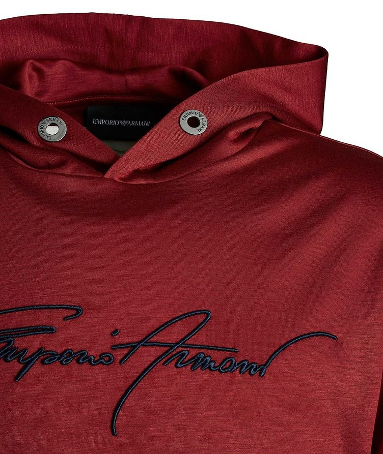 Embroidered Jersey Hoodie image 2