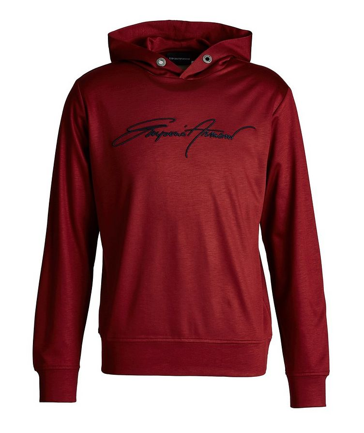 Embroidered Jersey Hoodie image 0