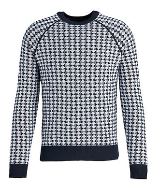 Emporio Armani Diamond Wool-Cotton Sweater