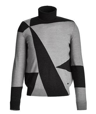 Emporio Armani Printed Wool Turtleneck