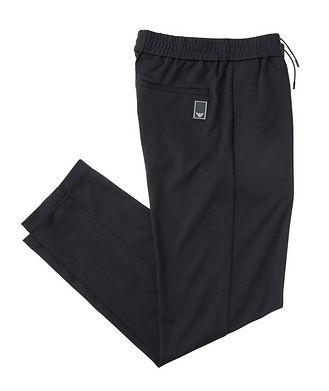 Emporio Armani Pantalon en tissu extensible à cordon