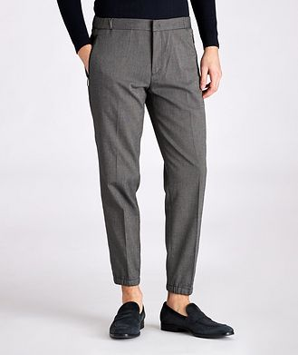 Emporio Armani Viscose-Blend Drawstring Trousers