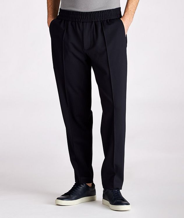 Drawstring Stretch Trousers picture 1