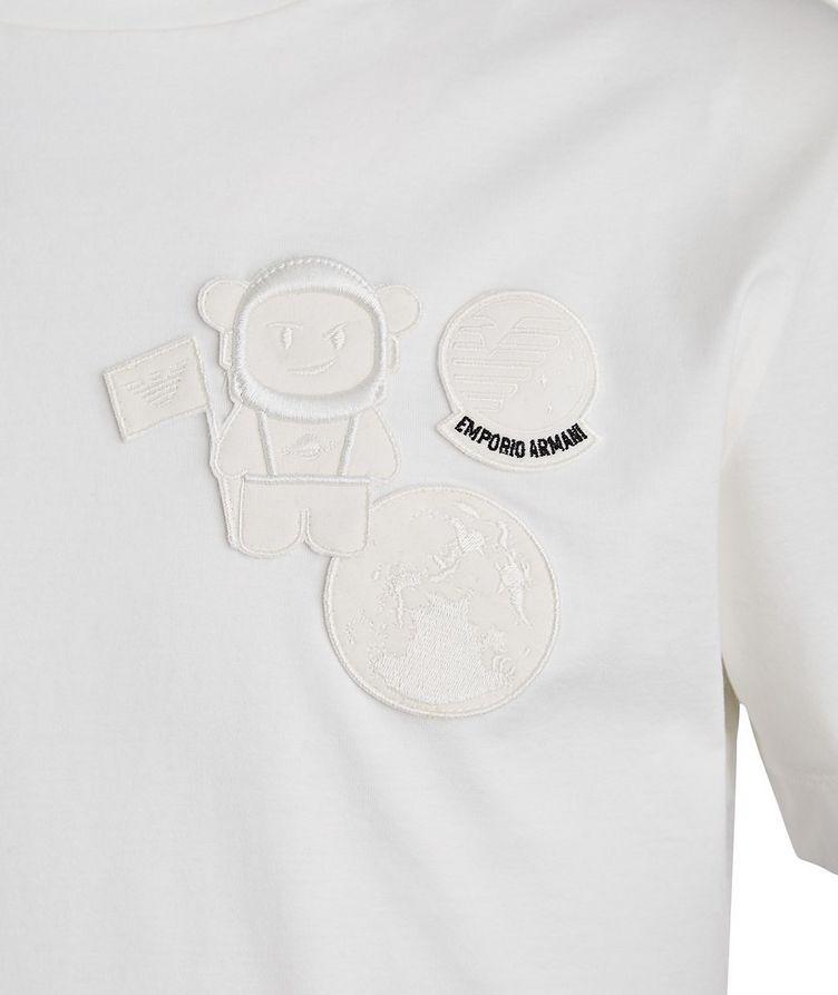 Manga Bear Astronaut Embroidered T-Shirt image 1