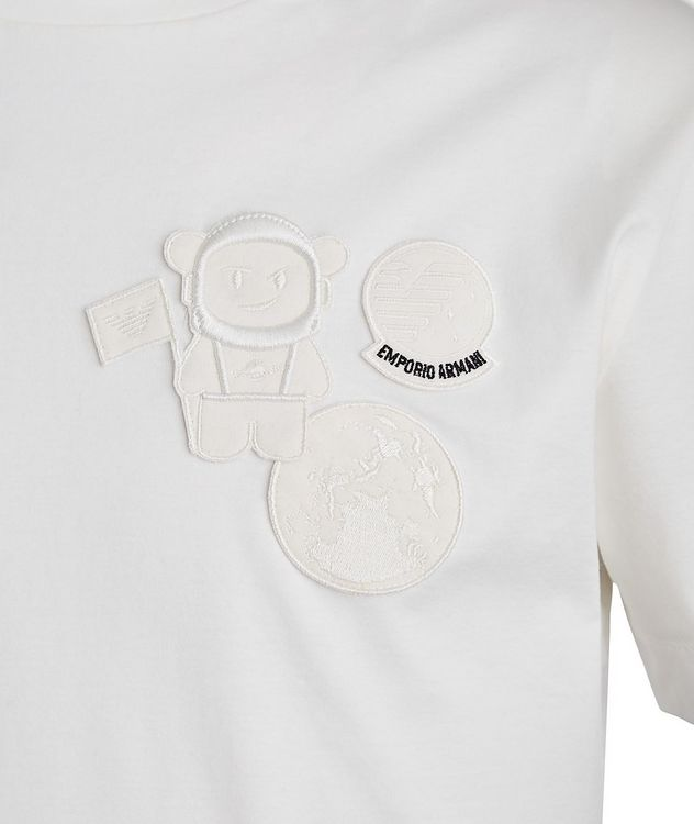 Manga Bear Astronaut Embroidered T-Shirt picture 2
