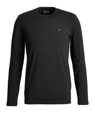 Emporio Armani Travel Essentials Long-Sleeve Cotton T-Shirt