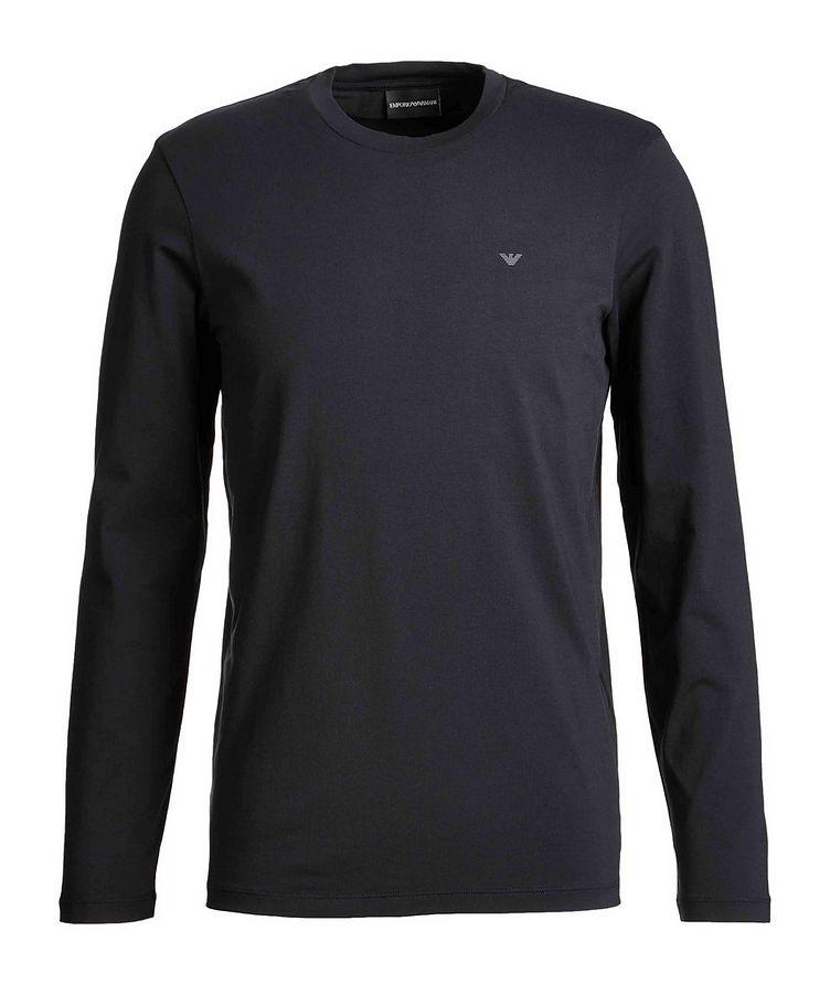 T-shirt en coton à manches longues, collection Travel Essentials image 0