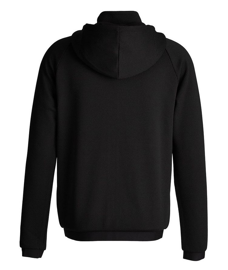 Mesh Stretch Knit Zip-Up Hoodie image 1