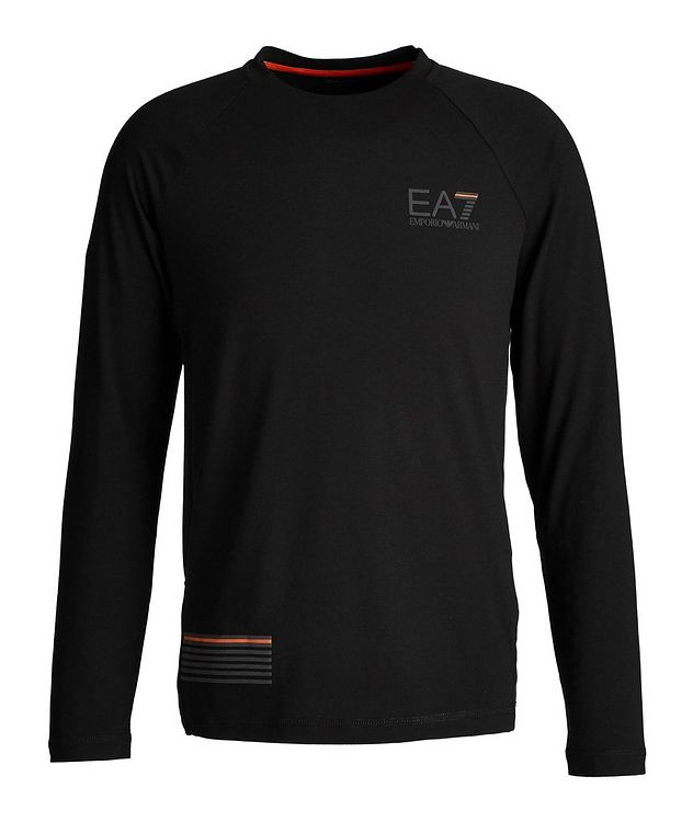 EA7 Long-Sleeve Cotton-Blend T-Shirt picture 1