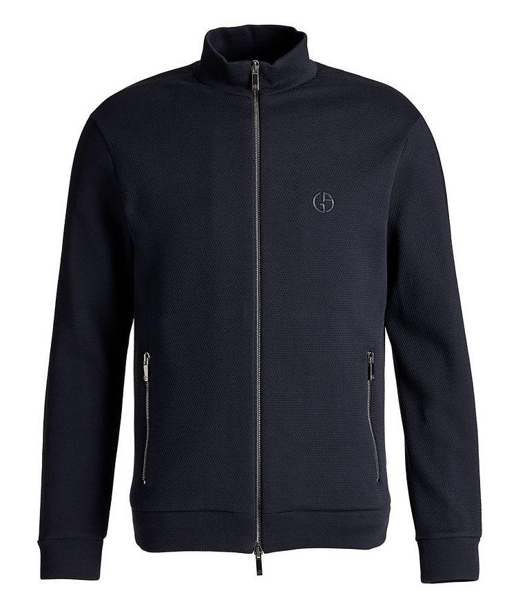 Zip-Up Cotton-Blend Jacket image 0