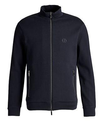 Giorgio Armani Zip-Up Cotton-Blend Jacket