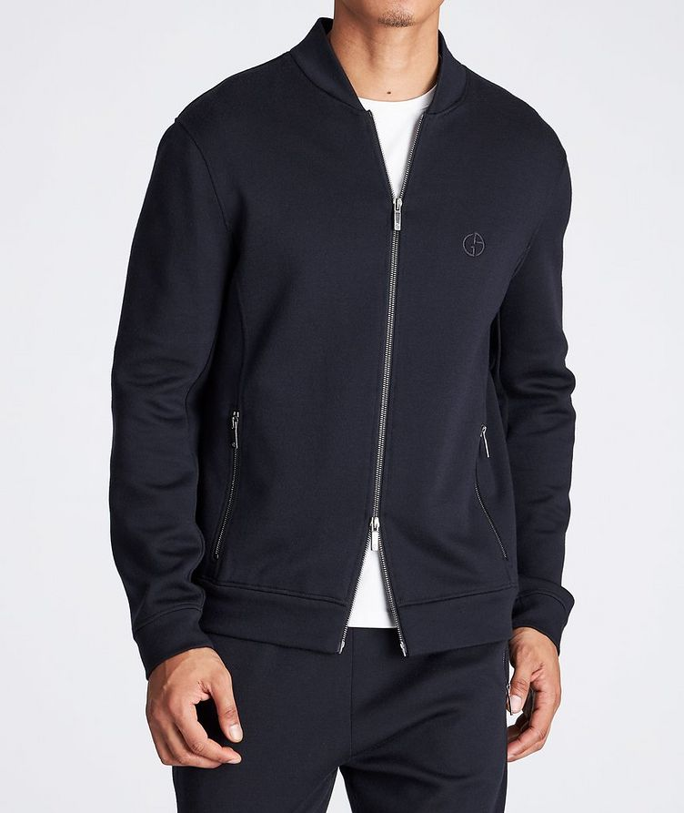 Zip-Up Cashmere-Modal Sweatshirt image 1