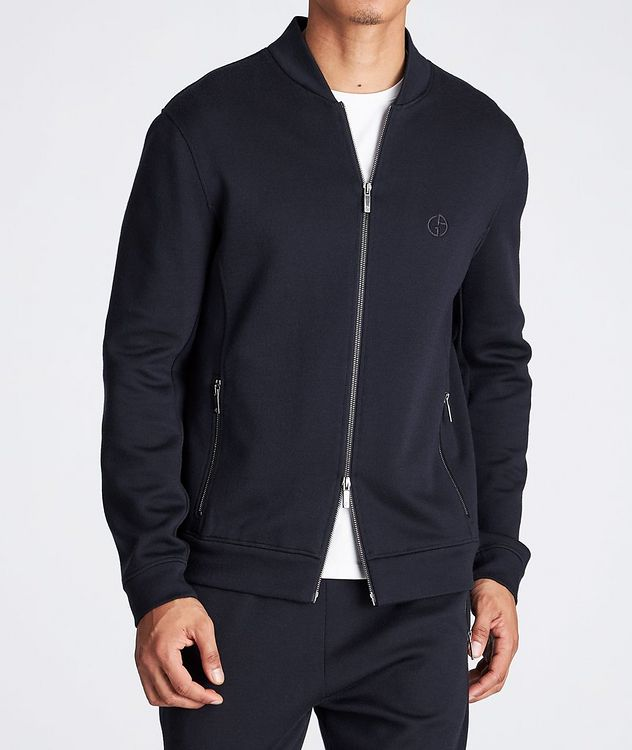 Zip-Up Cashmere-Modal Sweatshirt picture 2