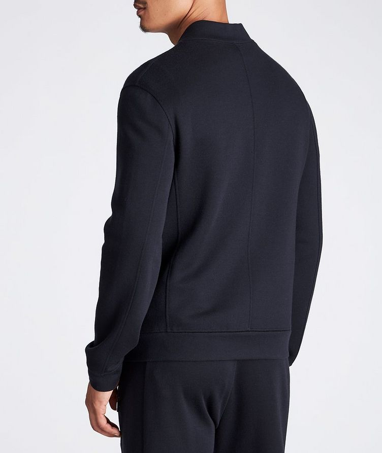 Zip-Up Cashmere-Modal Sweatshirt image 2
