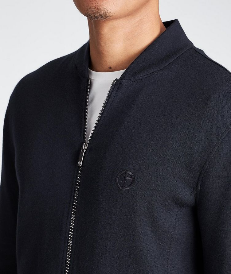 Zip-Up Cashmere-Modal Sweatshirt image 3