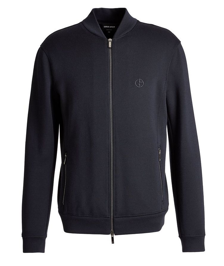 Zip-Up Cashmere-Modal Sweatshirt image 0