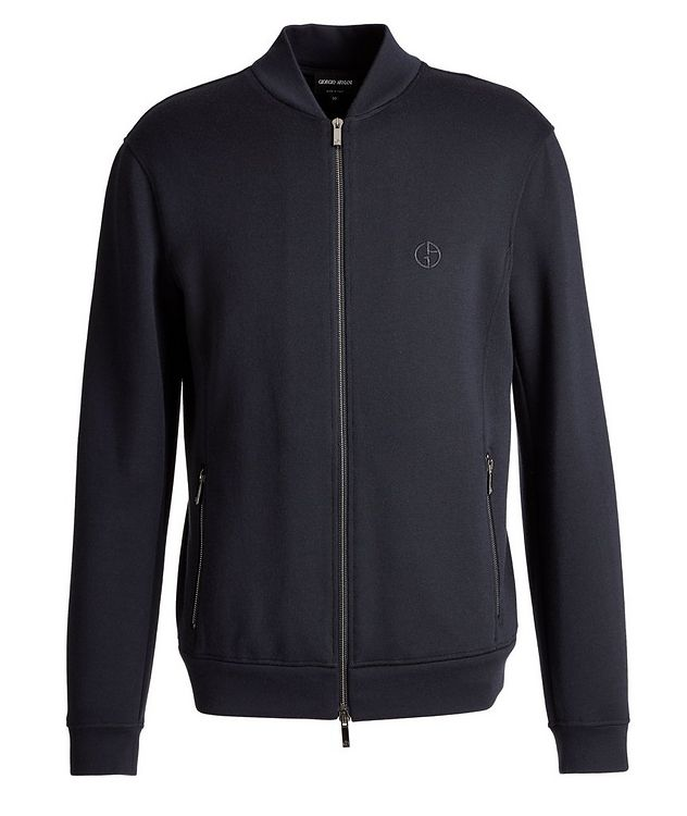 Zip-Up Cashmere-Modal Sweatshirt picture 1