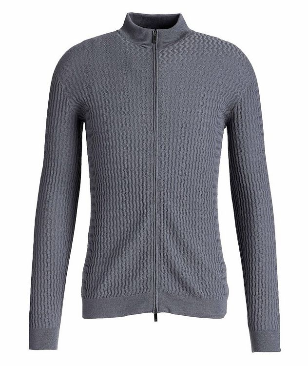 Zip-Up Wool Cardigan picture 1