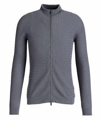 Giorgio Armani Zip-Up Wool Cardigan