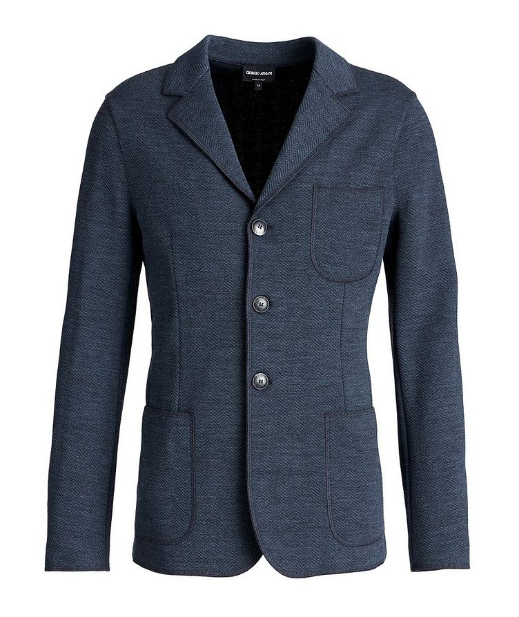 Unstructured Wool-Knit Sports Jacket image 0