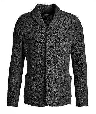 Giorgio Armani Wool-Cashmere Sweater Jacket