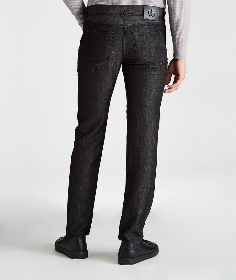 Tapered Wool-Linen Jeans image 1