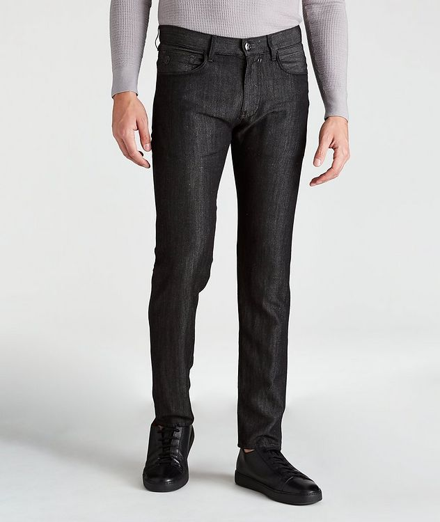 Tapered Wool-Linen Jeans picture 1