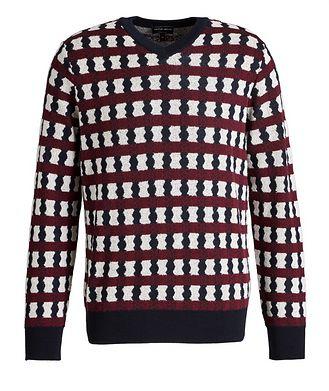 Giorgio Armani Geometric Print Wool, Cashmere & Silk Sweater