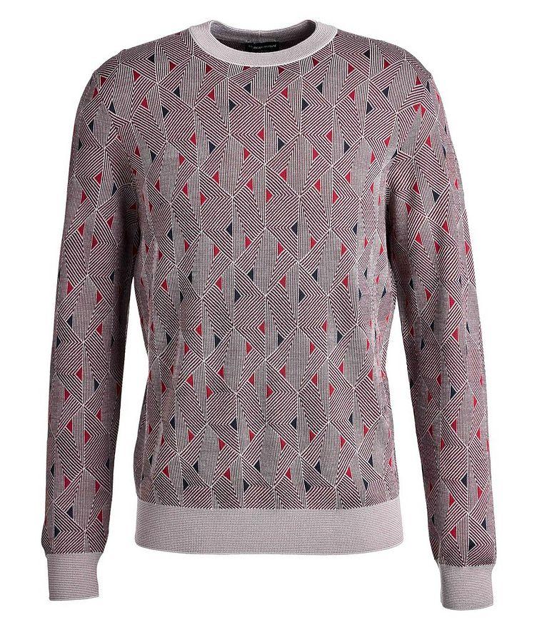 Geometric Wool-Blend Sweater image 0