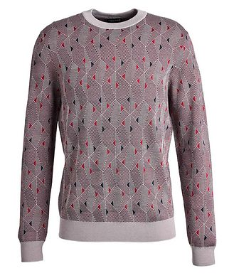 Giorgio Armani Geometric Wool-Blend Sweater